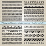 Vintage calligraphic design elements Stock Images