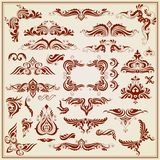 Vintage Calligraphic Design Stock Images