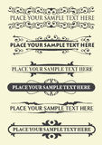 Vintage calligraphic elements Stock Photography