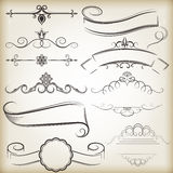 Vintage calligraphic elements Royalty Free Stock Images
