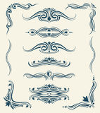 Vintage calligraphic floral design vector elements vector illustration