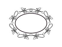 Vintage Calligraphic Frame - Round Decorative Floral Element with Flourishes Royalty Free Stock Photo