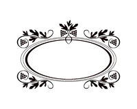 Vintage Calligraphic Frame - Round Decorative Floral Element with Flourishes Royalty Free Stock Photos