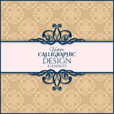 Vintage calligraphic frame. Vector illustration Royalty Free Stock Photo