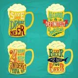 Vintage calligraphic grunge beer design Stock Images