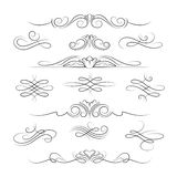Vintage calligraphic ornate decoration elements Royalty Free Stock Images
