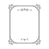 Vintage calligraphic rectangle frame on white Royalty Free Stock Images