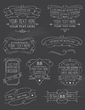 Vintage Calligraphy ChalkBoard Elements Six Stock Image
