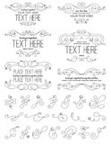 Vintage Calligraphy Flower Design Elements. A collection of Calligraphic elements Royalty Free Stock Images