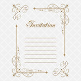 Vintage calligraphy frame Stock Photo