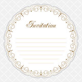 Vintage calligraphy frame Stock Photography