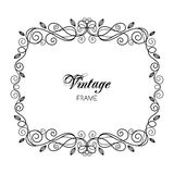 Vintage calligraphy frame Stock Images
