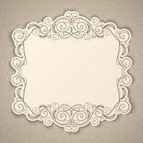Vintage calligraphy frame Royalty Free Stock Images