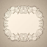 Vintage calligraphy frame Royalty Free Stock Photography
