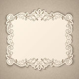 Vintage calligraphy frame Royalty Free Stock Photo