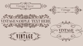 Vintage Calligraphy Frame Vector Graphics Stock Images