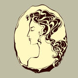 Beautiful woman an ancient cameo Stock Image