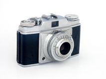 Vintage camera. An old rangefinder camera on white background Royalty Free Stock Photo