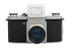 Vintage Camera. Old SLR camera (1940). Vintage Camera. Isolated object. White background Stock Images