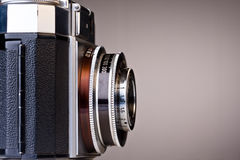 Vintage Camera. Retro vintage camera with space on the right for your text stock photography