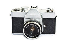 Vintage camera. On white background Stock Image