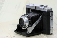 Vintage Camera. Old camera from the middle of the 20th century stock images