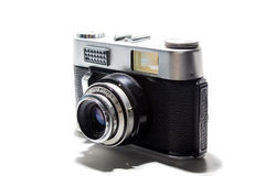 Vintage Camera. On white background Royalty Free Stock Photos