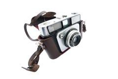 Vintage camera. Isolated on white background Stock Images