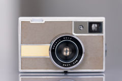Vintage camera. Shallow depth of field - focus on lens Stock Image
