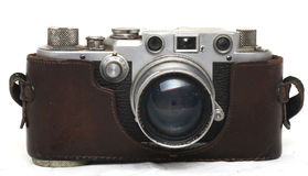 Vintage Camera. Isolated vintage camera on the white background Stock Images