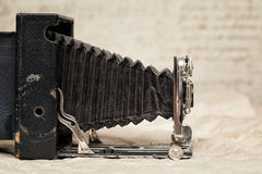 Vintage camera on an abstract background Stock Photo