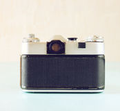 Vintage camera back view - filtered image Stock Image