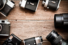 Vintage camera background Stock Images