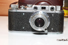 Vintage camera  black and metal Stock Images