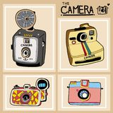 Vector of the antique camera design royalty free illustration