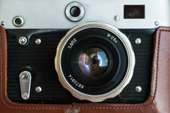 Vintage camera. Close up of a vintage camera Royalty Free Stock Images
