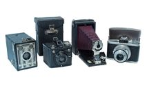 Vintage Camera Collection Royalty Free Stock Photo