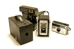 Vintage Camera Collection Stock Images