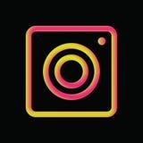 Vintage camera 3d gradient icon. Vector design, social media application Stock Images