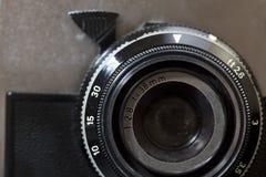 Vintage camera detail. Detail of a vintage foto camera Royalty Free Stock Photo