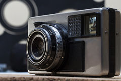 Vintage camera detail Stock Photography