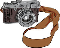 Vintage Camera Drawing Isolated Royalty Free Stock Image