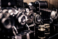 Vintage camera equipment Stock Photo