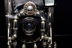 Vintage Camera Ernemann. Detecti aplanatic lens 1:6.5 closeup Royalty Free Stock Image