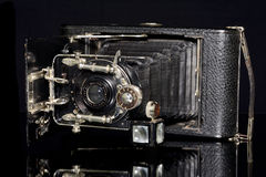 Vintage Camera Ernemann. Detecti aplanatic lens 1:6.5 closeup Royalty Free Stock Images
