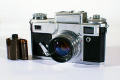 Vintage Camera with Film Stock Photography