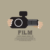 Vintage Camera With Film Strip. Royalty Free Stock Photos