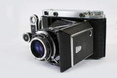 Vintage Camera with Film. Vintage Camera taken in studio Royalty Free Stock Image