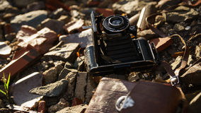 Vintage Camera. Found in Ruin Royalty Free Stock Photo