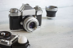 Vintage camera gear Royalty Free Stock Images